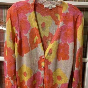 Loft Floral Lightweight Sweater